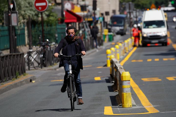 Paris has responded to COVID-19 by dramatically expanding bike lanes and giving residents $55 each to repair their bicycles.