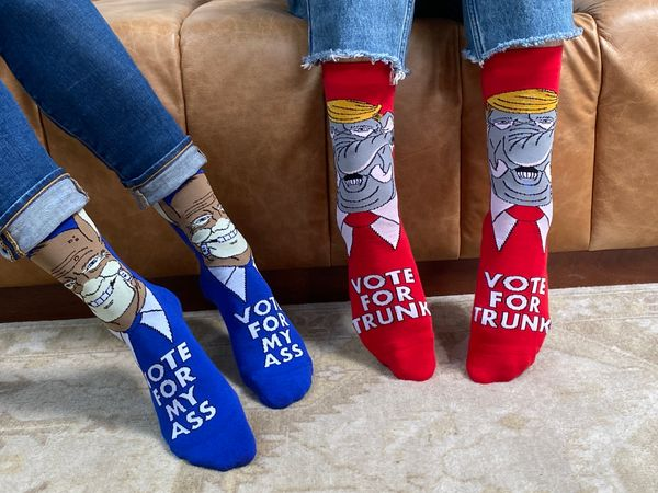"Why promote your candidate of choice with regular ol' signs and banners when you can wear these <a href=""https://boosocki.com"