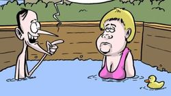 BLOG - À Brégançon, Macron et Merkel aimeraient mieux avoir piscine que gérer
