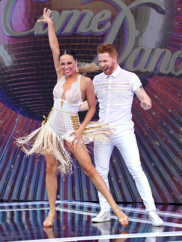 Katya and Neil Jones at last year's Strictly launch