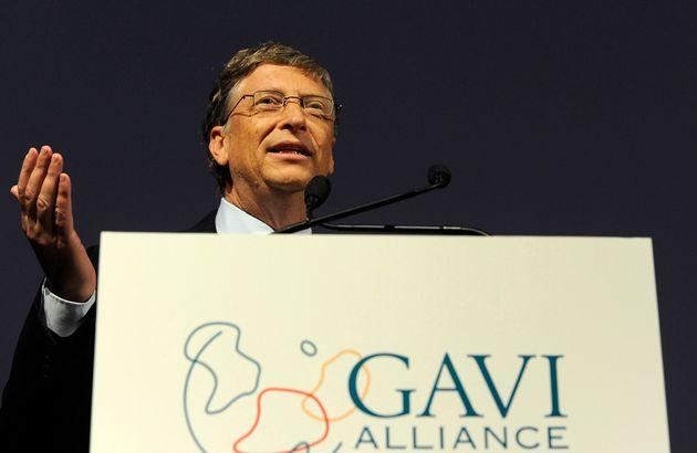 Billionaire Bill Gates speaks at the Gavi conference in London on June 13,