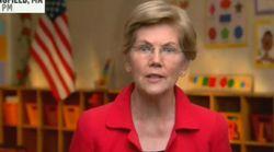 Ce détail dans le décor du discours d'Elizabeth Warren voulait dire