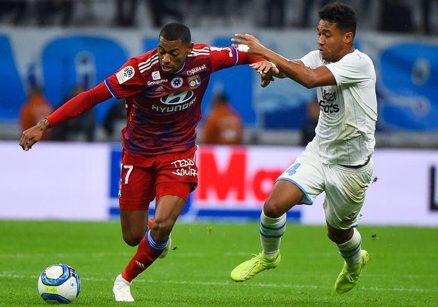 Lors du match de Ligue 1 Marseille-Lyon, le 10 novembre