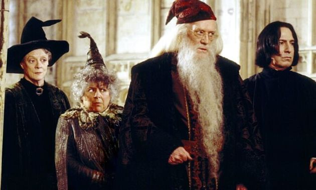 Miriam Margolyes as Professor Sprout in Harry