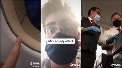 Mostra crepa attorno al finestrino del suo aereo: il video del passeggero è virale su