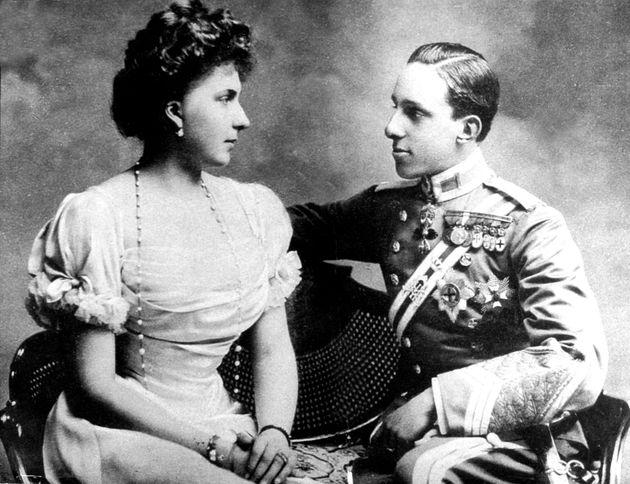 Alfonso XIII y Victoria Eugenia, en