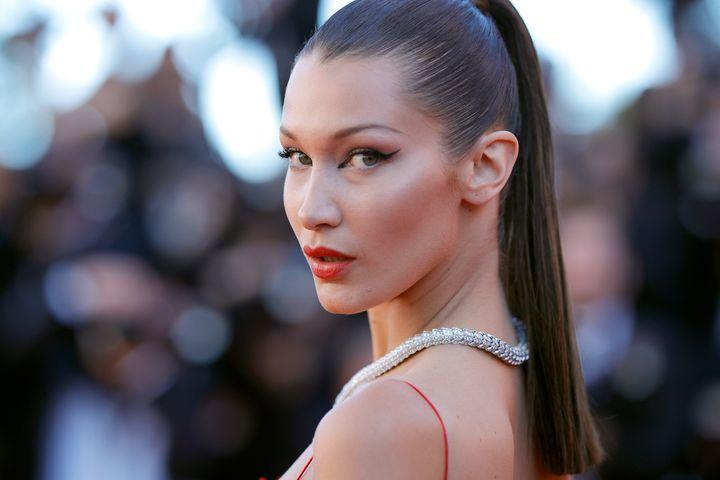 "The ""fox eye"" look is often associated with model Bella Hadid."