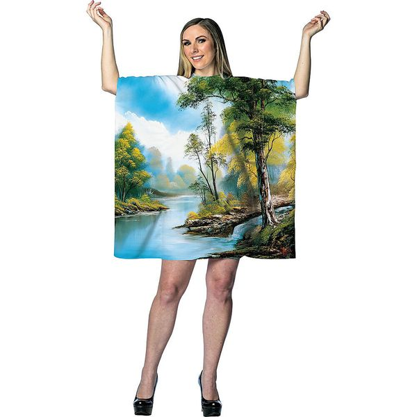 """This <a href=""""https://www.partycity.com/adult-bob-ross-painting-costume-P751710.html"""" target=""""_blank"""">Bob Ross-themed costume"""