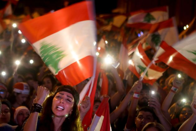 Una protesta contra el Gobierno libanés, en