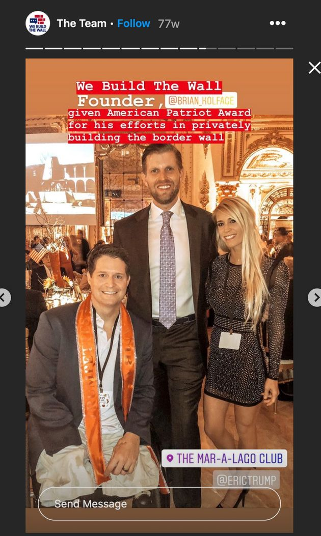 Eric Trump at a We Built the Wall event with Brian