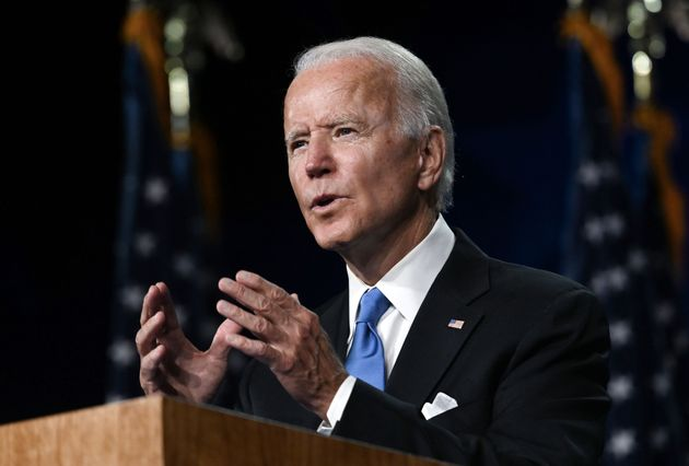 Former Vice President Joe Biden accepts the Democratic Party nomination for president on Thursday in...