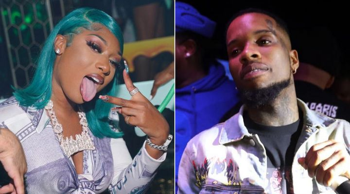 Megan Thee Stallion and Tory Lanez are photographed at separate events in 2020.Pete, Peterson and others were sharing an SUV in Los Angeles on July 12 when the shooting occurred.