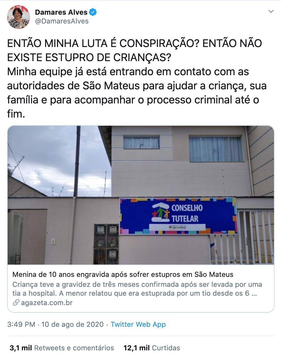 Em 8 de agosto, gravidez de menina de 10 anos foi diagnosticada em hospital em São Mateus (ES)....