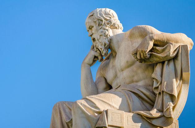 Estatua del filósofo griego
