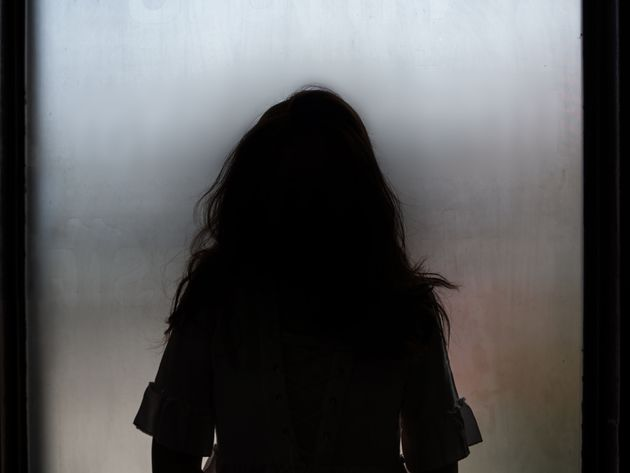 Ghost girl silhouette standing in front of