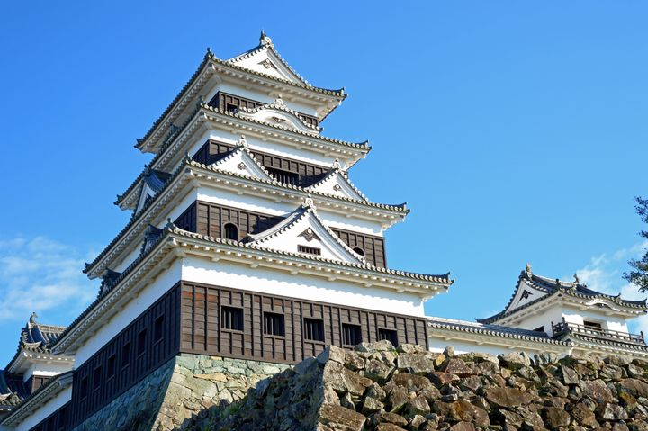 Ozu,Japan-November 23,2019:Main tower of Ozu castle,Ehime prefecture, Japan.