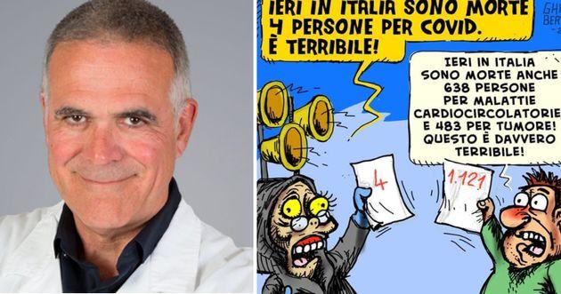 La vignetta postata da Zangrillo sui morti di Covid indigna il