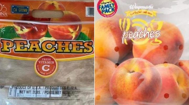 Prima Wawona, based out of Fresno, Calif., has recalled fresh peaches with various brand names because of a potential Salmonella contamination.
