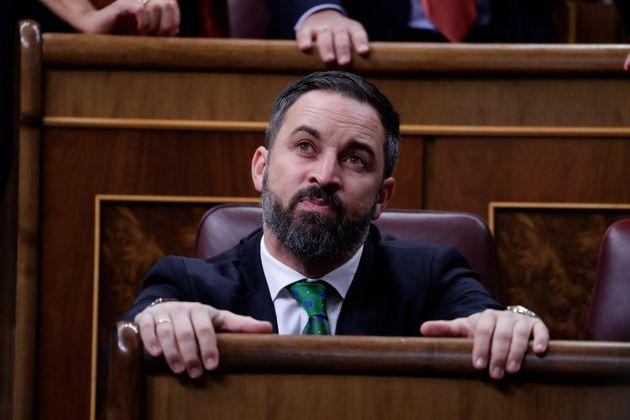 Santiago Abascal, el pasado 5 de enero, en el Congreso de los