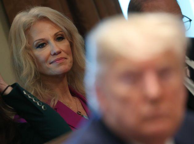Kellyanne Conway, durante una rueda de prensa de Donald Trump en la Casa Blanca el 19 de noviembre de...