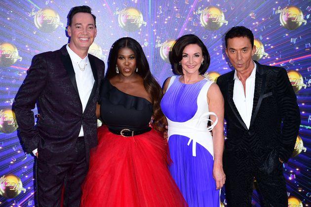 Bruno with fellow Strictly judges Craig Revel Horwood, Motsi Mabuse and Shirley