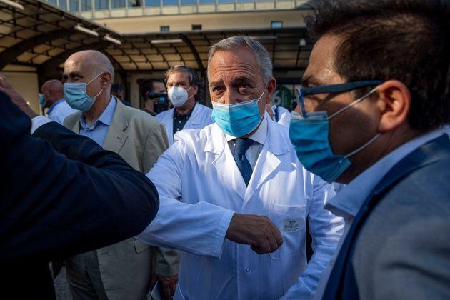 Francesco Vaia, director médico del Instituo para enfermedades infecciosas del Lazzaro Spallanzani...