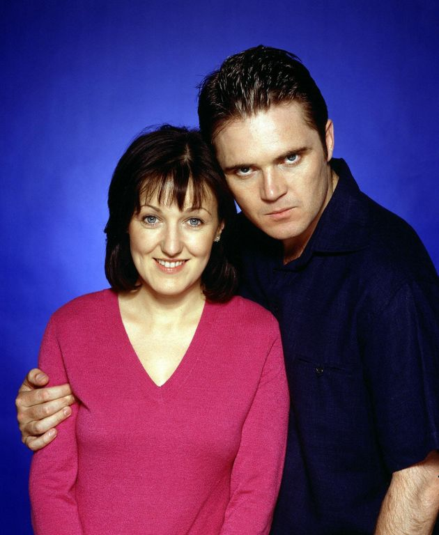 Alex Ferns and Kasey Ainsworth as Trevor and Little Mo in