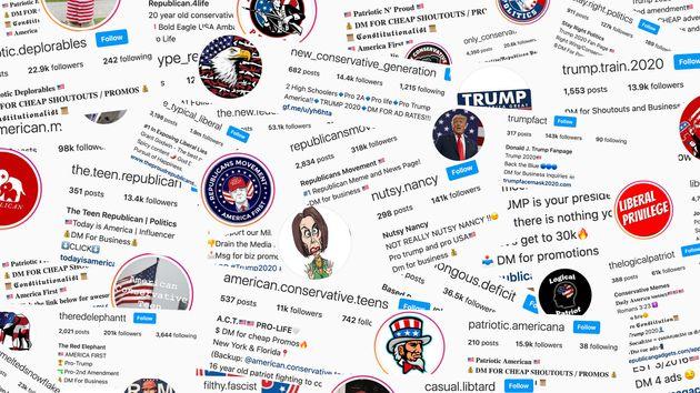 Un vaste réseau de comptes de mèmes