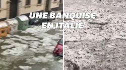 La banquise à Vérone? Non, une tempête de