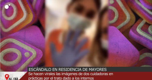 Imagen del vídeo de las dos jóvenes en Cuatro al