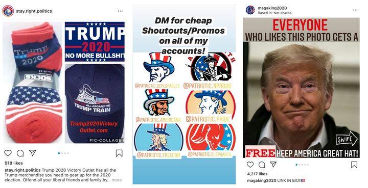 Les comptes mèmes MAGA tirent profit de l'industrie du marketing d'influence en sollicitant de manière agressive des partenariats rémunérés.