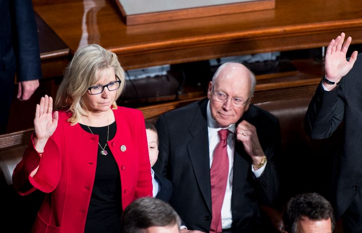 Former Vice President Dick Cheney and his daughter Liz Cheney, a Wyoming congresswoman.
