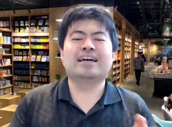 オンライン取材に答える澤田翔さん
