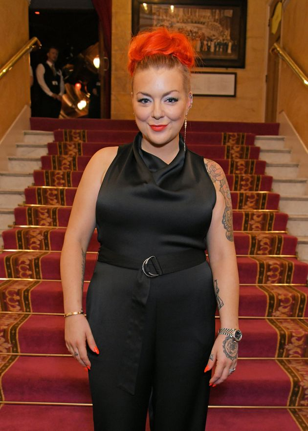 Sheridan at the press night for Joseph And The Amazing Technicolour Dreamcoat in