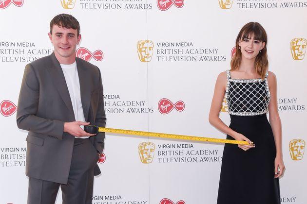 Paul Mescal and Daisy Edgar-Jones at the TV Baftas earlier this