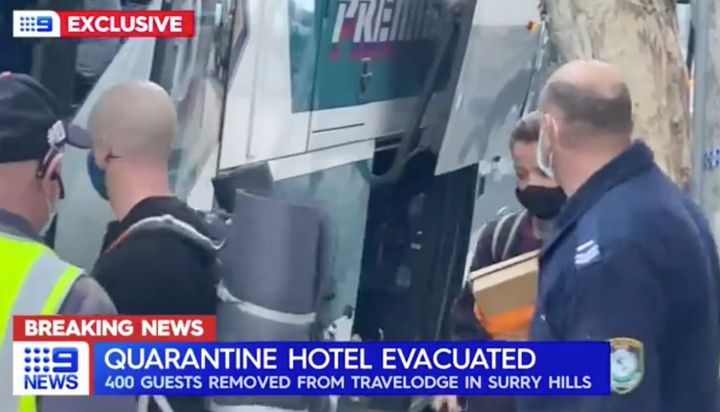 """Channel 9 News reported the """"evacuation"""" from the Surry Hills location on Tuesday."""