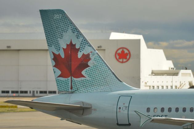 A view of an Air Canada plane at Calgary International Airport in September 2018. There were more refund...