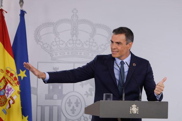 Pedro Sánchez, este martes 25 de agosto en La Moncloa tras la reunión del Consejo de