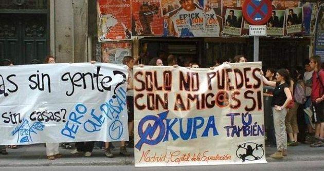 Una protesta en favor de la ocupación en