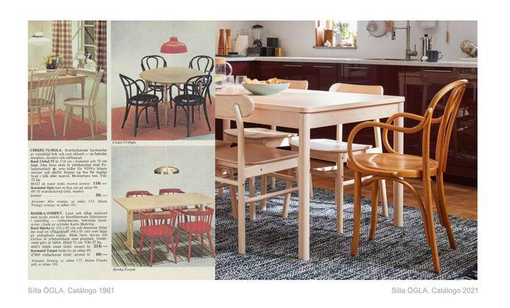 La silla ÖGLA, en el catálogo de IKEA 2021.