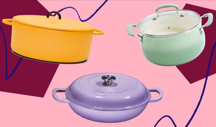 You'll feel inspired with these pretty pastel cookware sets.