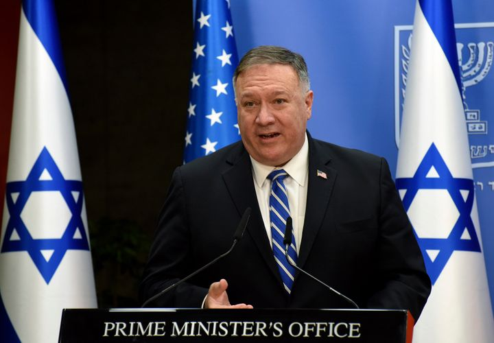 Secretary of State Mike Pompeo's address to the Republican National Convention on Tuesday, which he recorded from Jerusalem,
