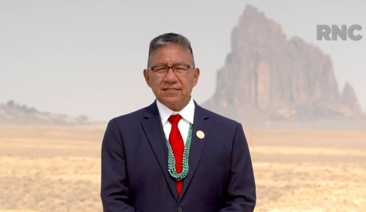 Navajo Nation Vice President Myron Lizer addresses the virtual Republican National Convention on Aug. 25, 2020.