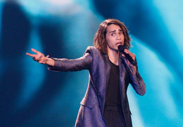 Isaiah Firebrace from Australia performs with the song