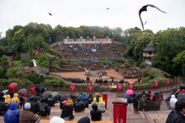 Le célèbre parc du Puy du Fou le 11 juin 2020 au moment de sa réouverture après...