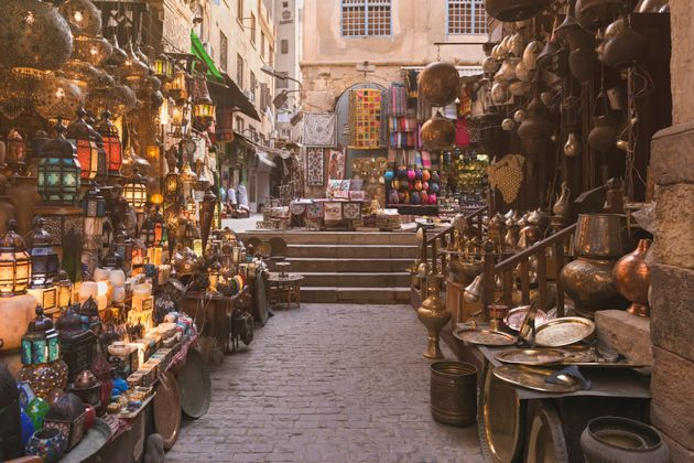 Khan el-Khalili is a major market in the Islamic district of Cairo. The bazaar district is one of Cairo's...