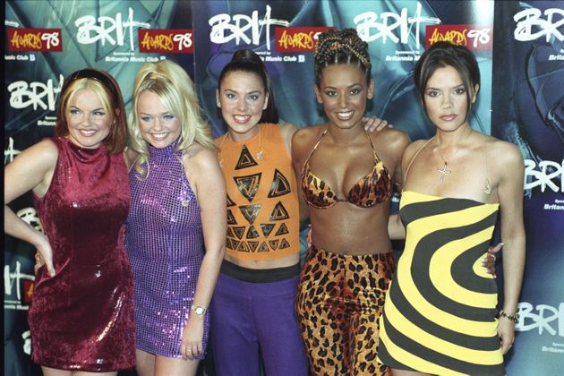 Victoria and her Spice Girls bandmates at the Brit Awards in