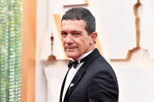 Antonio Banderas en la alfombra roja de los Oscar