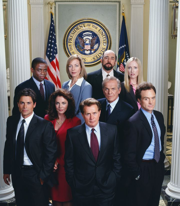 """The Season 3 cast of """"The West Wing."""" Photo by: James Sorensen/NBCU Photo Bank"""