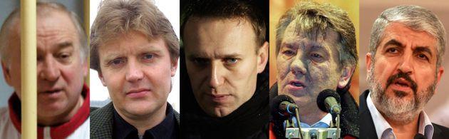 Sergei Skripal, Alexander Litvinenko, Alexei Navalny, Viktor Yushenko y Khaled Meshal, todos supuestas...